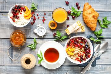 Assortment of breakfast
