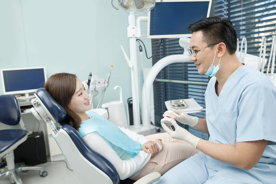 Male dentists and female patients
