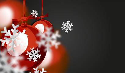 Christmas ball greeting card, New Year