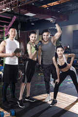 Young people at the gym