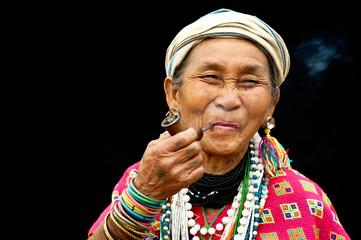 Karen Woman Smoking a Pipe