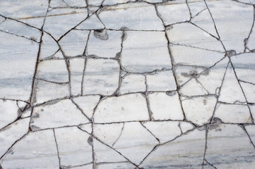 Cracked Marble Floor