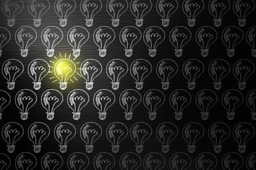 creativity concept for good ideas on blackboard inspiration concept.