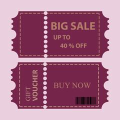big sale coupon vector illustration