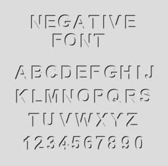 Black negative font