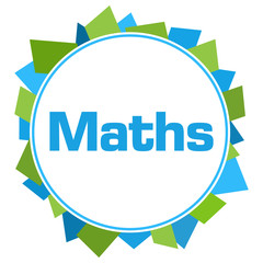 Maths Green Blue Random Shapes Circle