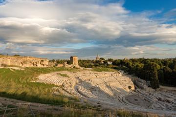 Greek Roman Theater in Syracuse - Sicily Italy Fototapete