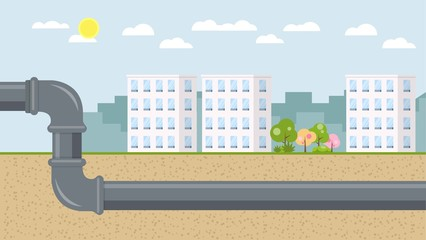 Kanalisation Flat Design