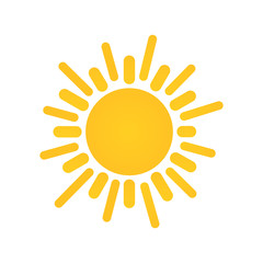 Sunny weather sign icon. Yellow sun illustration