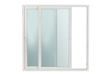 PVC window isolated on white