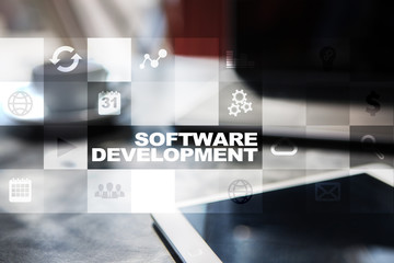 Software development. Applications (APPS) for business. Programming.
