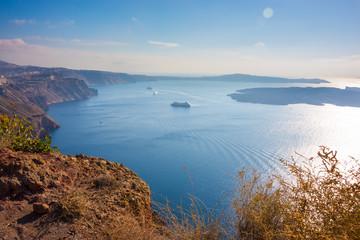 View from Santorini island, Greece