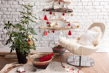 Christmas living room corner style