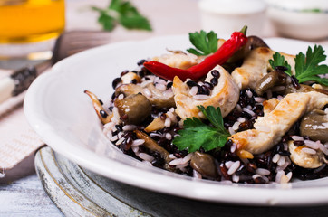 Rice mix with chicken