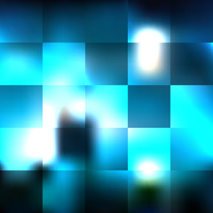 Squares blue glass vector background