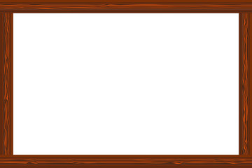 Wooden frame and  line beautiful Vector illustration Eps10