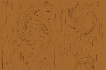wooden plank pattern texture and gnarl line surface brown  beautiful  board for background. Vector illustration Eps10