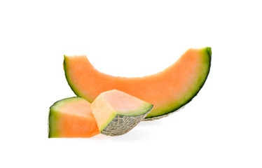 sweet melon on white background