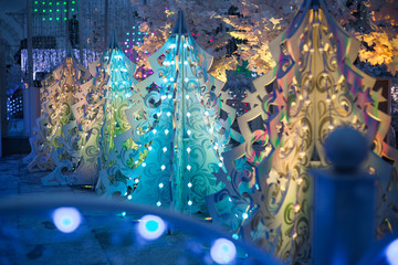 three-dimensional light Christmas decoration in the form of Christmas trees