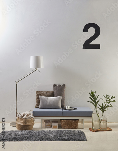 Living Room Corner Decoration And Grey Carpet Style Glass Vase Of
