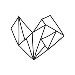 Vector illustration of a heart.