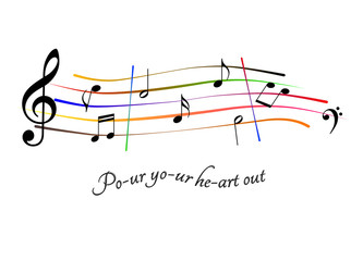 Spartito musicale Pour your heart out