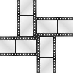 Vector film strips crosswise. Eps 10 vector file.