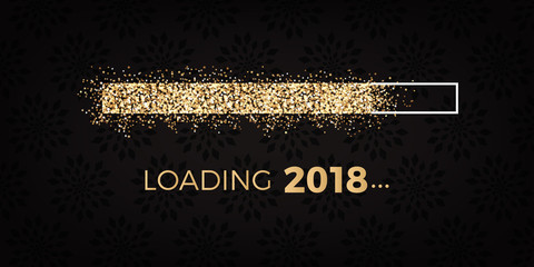 loading 2018 - loading bar - silvester party - golden stars