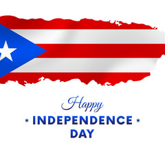 Puerto Rico Independence day. Puerto Rico map. Vector illustration.