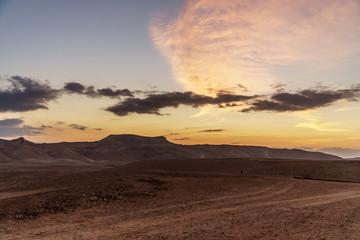 Morning in negev desert in Israel