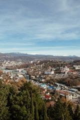 city of Sochi in the winter. view from the survey platform