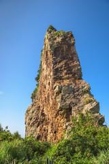 Tachigami Rock on Kumejima Island, Okinawa, Japan.