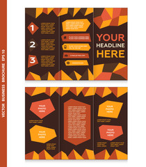 Abstract business brochure template with place for your photo.