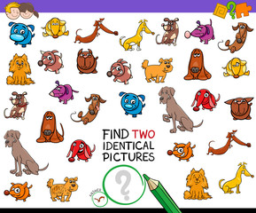 find two identical dogs educational activity