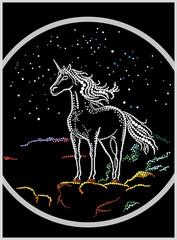 Unicorn on the rock