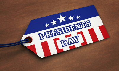 Presidents Day Label Tag