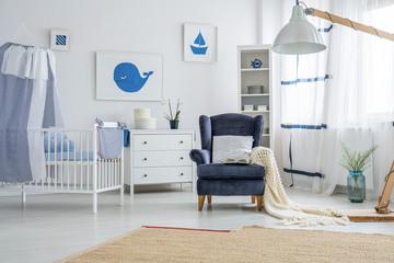 Marine style baby's bedroom