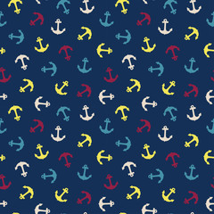 Seamless pattern with anchor.