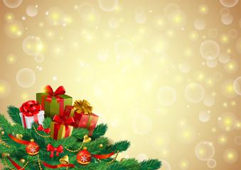 Christmas festive background, vector image