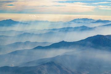 Printed kitchen splashbacks Beige Andes Mountains Aerial View, Chile