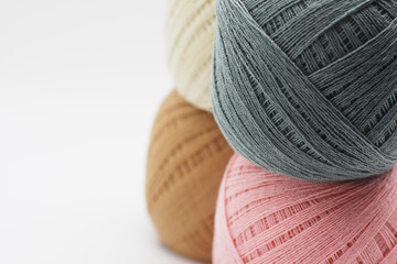 Colorful thread. yarns are available in many color.