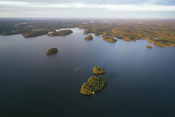 Aerial view of islands against sky