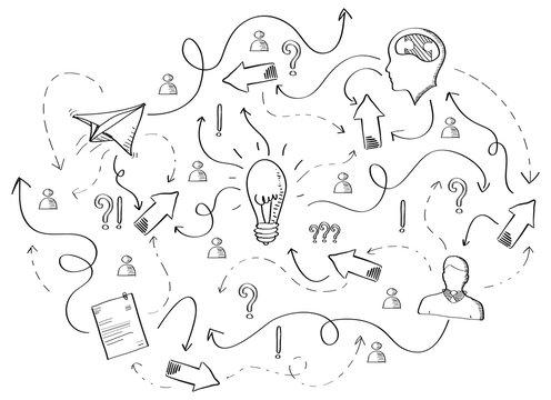 Hand drawn vector project presentation