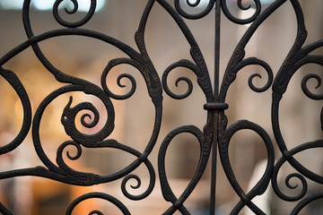 Decorative Metal Gate Texture