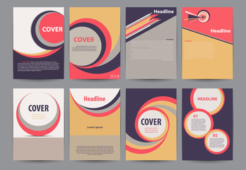 Set of abstract element  for cover design, Leaflet Brochure Flyer template design, book cover layout ,presentation   and web templates.