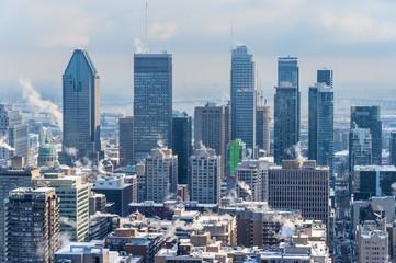 Montreal Skyline in winter