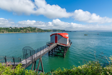 Old coastal lifeboat station at the seaside town of Tenby