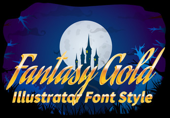 Fantasy Gold Font Style