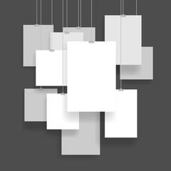 White picture template