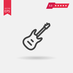 Simple flat electric guitar icon.